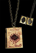 Harry Potter Marauder's Map Locket, Necklace Opens,A treasure From the HP Series