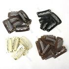 10pcs/50pcs 28/32mm Snap U Shape Clips for Hair Extension Weft