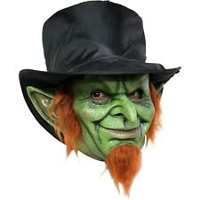 Mad Goblin Latex Overhead Mask Scary St. Patrick's Day Costume Gremlin