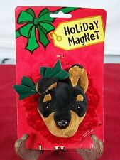 HOLIDAY MAGNET HO HO HOUNDS CHRISTMAS DOG