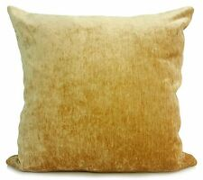 """Cushion covers or cushions soft velvet effect CHENILLE in 10 colours 17""""x 17"""""""