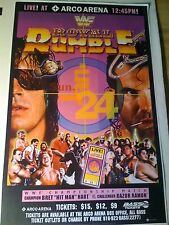 MINT 1993 WWF ROYAL RUMBLE Pay Per View EVENT POSTER BRET HART RAZOR RAMON NOS