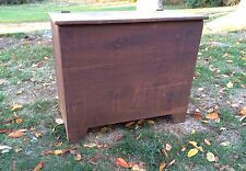 Antique Two Compartment Grain Bin With Original Dry Surface Boot Jack Ends