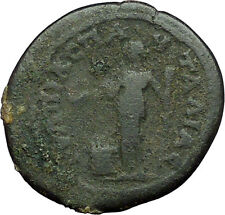 FAUSTINA II wife of Marcus Aurelius Pautalia Thrace Roman Coin Hera Altar i34366