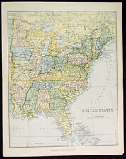 1866 Mackenzie Antique Map United States of America