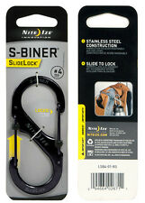 "Nite Ize S-Biner Black Stainless Steel with Slide Lock Size #4 (4""), Carabiner"