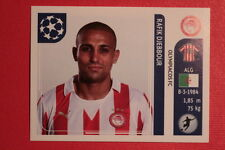 PANINI CHAMPIONS LEAGUE 2011/12 N 395 DJEBBOUR OLYMPIACOS BACK BACK MINT!!