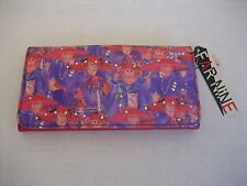 Far Nine J-65212CP Women's Red Hat Ladies Clutch Wallet NWWT 7 1/2in.L x 4 in.W
