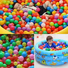 100 pcs Colorful Fun Ball Soft Plastic Ocean Ball Baby Kid Toy Swim Pit Toy New