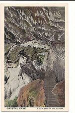 CRYSTAL CAVE Kutztown PA  Postcard Vintage Nature DEEP in the CAVERN View