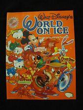 1991 Walt Disney's World On Ice Program vintage Rare OOP