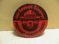 JOIN SMOKEY BEAR SMOKEYS CAMPAIGN PREVENT FOREST FIRES PARK SERVICE RED PIN