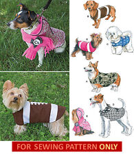SEWING PATTERN! MAKE SMALL~LARGE DOG CLOTHES!  5 COATS~FOOTBALL COSTUME! PUPPY