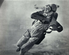 1935 Vintage SKYDIVING Aviation SKY DIVING Photo Art PENNEBAKER ~ Frame Ready!