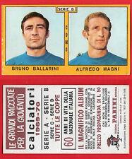 FIGURINA CALCIATORI PANINI 1969/70 - NUOVA/NEW - BALLARINI/MAGNI - COMO