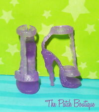 MONSTER HIGH ABBEY BOMINABLE SKULL SHORES DOLL REPLACEMENT PURPLE HEELS SHOES