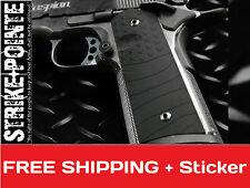 Strike Industries 1911 Colt Goverment Black Grey US FLAG Pistol PX-11 Grips 45