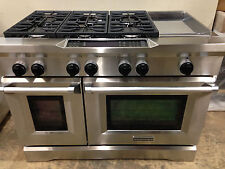 "KitchenAid KDRS483VSS03 48"" Pro Dual Fuel Range Stove 6 Burners + Griddle"
