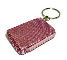 Mollaspace Tsubota Pearl Bling Bangle Pouch PINK top zip for phone,MP3,wallet