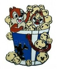 Disney Pin: DLR Global Cast Lanyard Series Chip & Dale with Food (Popcorn) 2005
