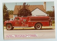 1960 Ford Howe Fire Truck Original Small Photo Stoddard Wisconsin ft0296