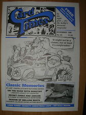 CARD TIMES MAGAZINE FORMERLY CIGARETTE CARD MONTHLY No 83 NOVEMBER 1996