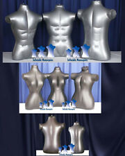 Inflatable Mannequin - Family Torso Package, Silver