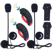 2x Motorcycle Bluetooth Intercom Remote 1000m Helmet Communication Headset