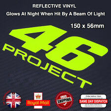 FLUORESCENT Yellow Vinyl Valentino Rossi 46 PROJECT Stickers Decals 150mm F505