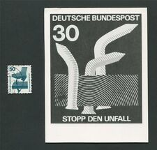 BUND FOTO-ESSAY 700 DAUERSERIE UNFALL 1971 PHOTO-ESSAY PROOF RARE!! e20