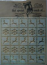 "That Special Touch MASK Stencil 6""x6"" (15cm) CHRISTMAS QUILT snowflake reindeer"