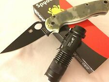 *New Spyderco Paramilitary 2 Digi Knife + HD CREE LED Light C81 EDC Combo!