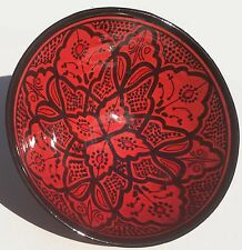 Moroccan Spanish Ceramic Salad Bowl Plate For Pasta Soup Fruit Salsa Chips Dish