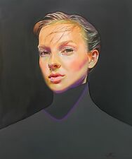 """Original Oil painting on canvas. Contemporary portrait of a woman 24x20"""""""
