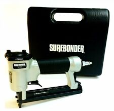 Surebonder Heavy Duty Staple Pneumatic Air Gun w Case Upholstery Stapler NEW