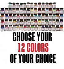 12 colors of your choice 1oz Angelus Acrylic Paint Leather Vinyl Set Starter Kit
