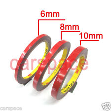 3M Double Face Sided Tapes 6mm,8mm,10mm 3 Meters for LED lights dashboard door