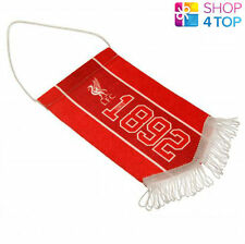 LIVERPOOL OFFICIAL FOOTBALL SOCCER CLUB MINI PENNANT HANGING CAR ROOM 1892 NEW