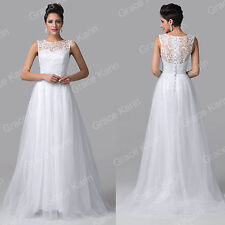 LACE Vintage Long Evening Party Bridesmaid Homecoming Prom Dress Wedding Dresses