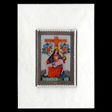 Austria 2016 - Glass Stamp Paintings Art Pieta and Cross - MNH