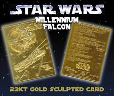 "STAR WARS ""BOUNTY HUNTERS"" 23 KT GOLD CARD! 1 OF ONLY 10,000! BOBA FETT/BOSSK!"
