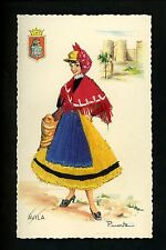 Embroidered clothing postcard Artist Puente, Spain Avila woman