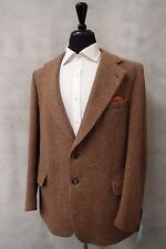 Men's brown harris tweed veste blazer 46R CC4585