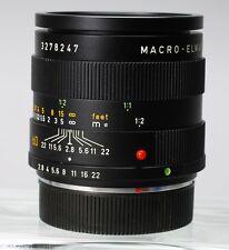 LEICA LEITZ MACRO-ELMARIT-R 60MM F/2.8 R MOUNT LENS E55 3 CAM -- R3 R4 -- EX+!