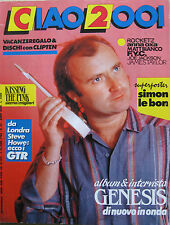 CIAO 2001 22 1986 Genesis Kissing The Pink Simon Le Bon Dissidenten Anna Oxa Gir