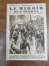 LE MIROIR DES SPORTS No 425 année 1928 : HECTOR MARTIN gagne BORDEAUX-PARIS