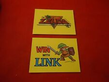 2 The Legend of Zelda Link Nintendo NES Topps Trading Sticker Cards