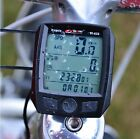 2015 Cycling Bike Bicycle Cycle Computer Odometer Speedometer Waterproof Black