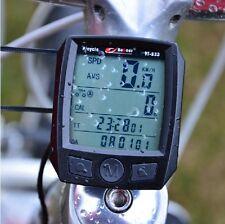 2015 Cycling Bike Bicycle Cycle Computer Odometer Speedometer Waterproof Black