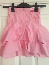 BNWT NEXT Pink Layered Embroidered Skirt 4 Years 104cms Adjustable Waist